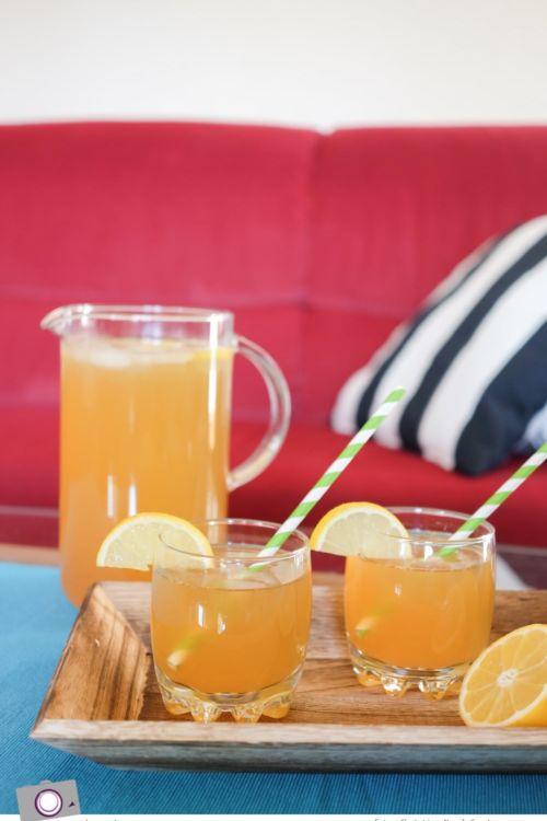 Selbstgemachte Limonade: fruchtig & herb, Zitronen-Ingwer-Limonade