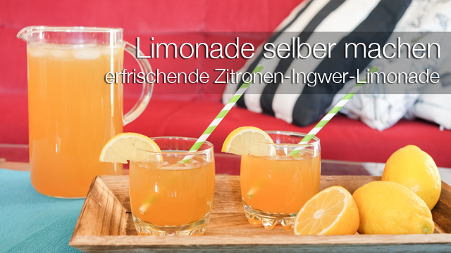 limonade selber machen fruchtig herb zitronen ingwer limonade mrsberry familien reiseblog. Black Bedroom Furniture Sets. Home Design Ideas