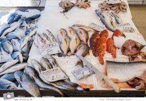 Griechenland, Chalkidiki, Kassandra: Wochenmarkt in Kassandria