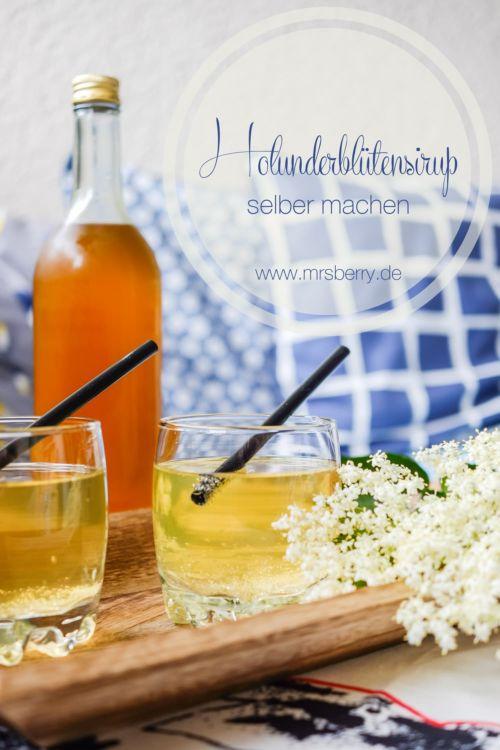 Limonade aus Holunderblüten oder Holunderblütensirup selber machen