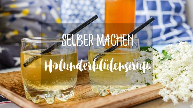 MrsBerry Rezept für Holunderblütensirup zum selber machen   für selbstgemachte Holunderlimonade   Rezepte mit Holunder