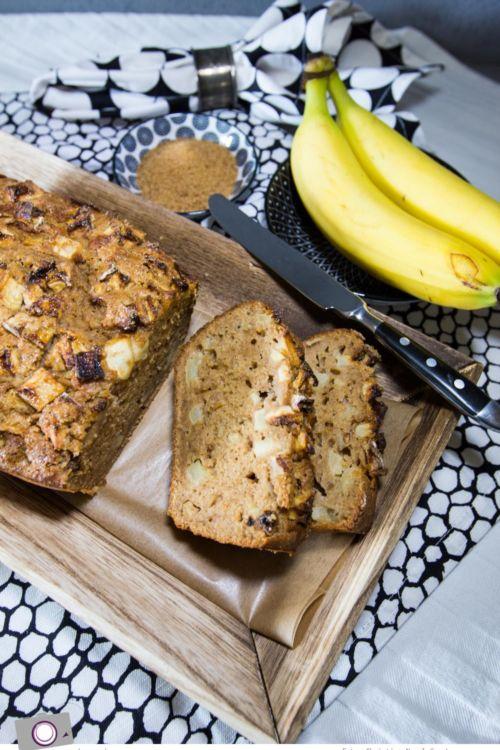 Rezept für leckerstes Apfel-Zimt-Bananenbrot – ohne Nüsse