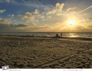 Urlaub auf Texel mit Kind und Hund - Sonnenuntergang über der Nordsee