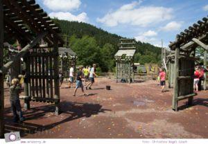 Die besten Ausflugsziele im Sauerland für Familien: Fort Fun Abenteuerland - Wasserkatapult