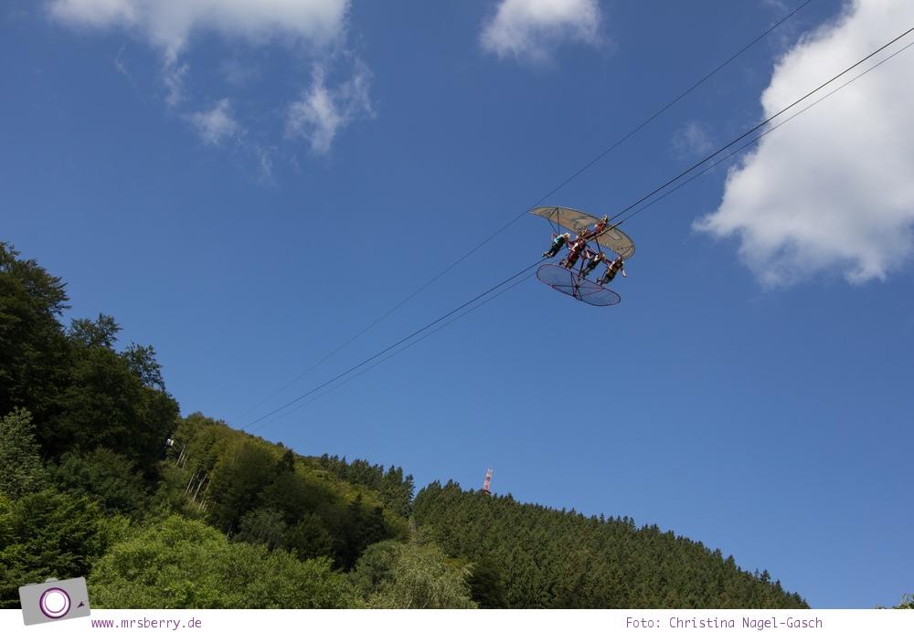 Die besten Ausflugsziele im Sauerland für Familien: Fort Fun Abenteuerland - Wild Eagle Freiflug