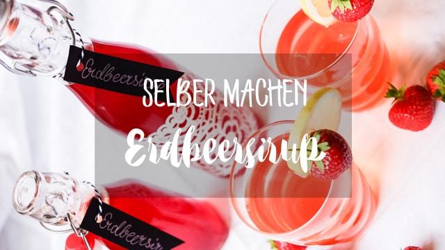 MrsBerry Rezept für Erdbeersirup zum selber machen | für selbstgemachte Erdbeerlimonade | Rezepte mit Erdbeeren