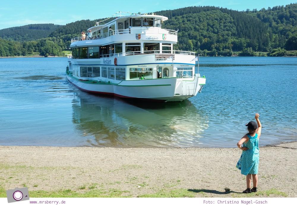Biggesee im Sauerland - ein Tagesausflug mit Kind und Hund | Schifffahrt auf den Biggesee