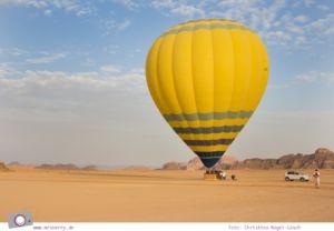 Höhenflug in Jordanien - Ballonfahrt mit dem Heißluftballon über die Wüste Wadi Rum