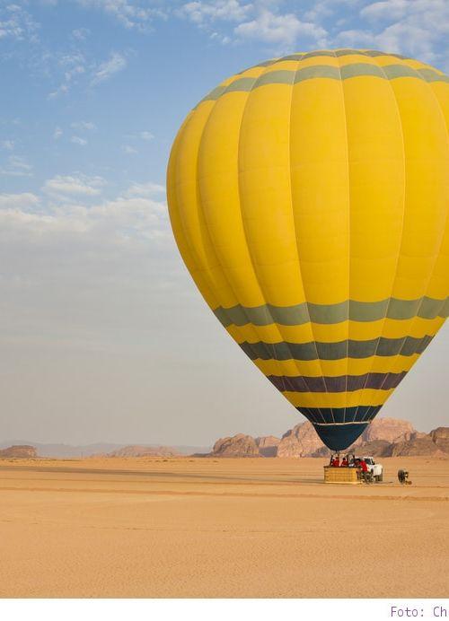 Höhenflug in Jordanien – mit dem Heißluftballon über Wadi Rum