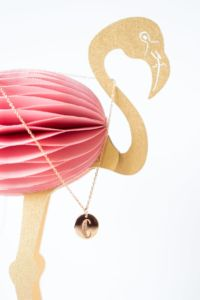 Geschenkidee: Letter Necklace - Lettering Kette mit Buchstabe in Rosegold im Design von Frau Hölle by Stilnest