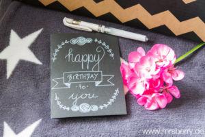 Lettering Guide: Materialien, Tipps & Tricks für Hand Lettering und Brushlettering - für Anfänger und Fortgeschrittene : Geburtstagskarte selber basteln