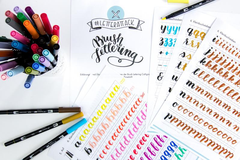Lettering Guide: der Brush Lettering Guide vom Frau Hölle Studio