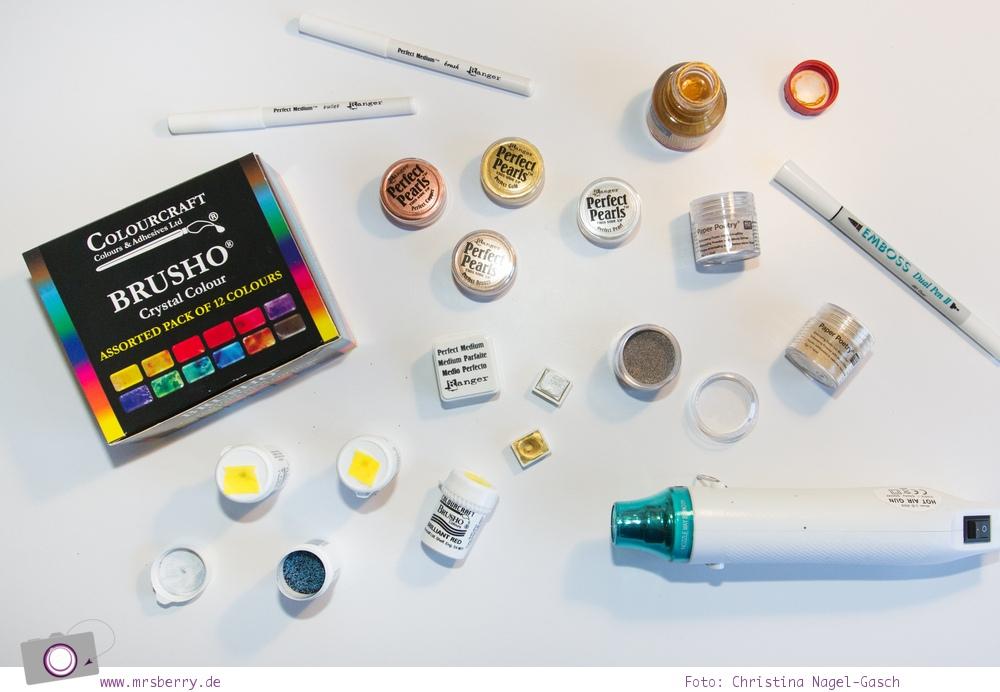 Lettering Guide: Materialien, Tipps & Tricks für Hand Lettering und Brushlettering - für Anfänger und Fortgeschrittene: kreativ mit Perfect Pearls, Embossing und Brusho