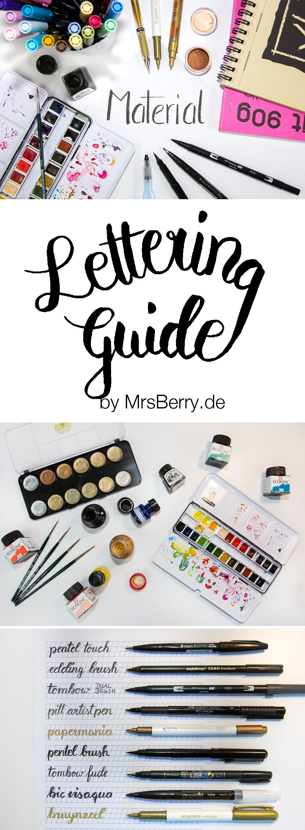 MrsBerry Lettering Guide - Material Tipps & Tricks zu Handlettering und Brushlettering