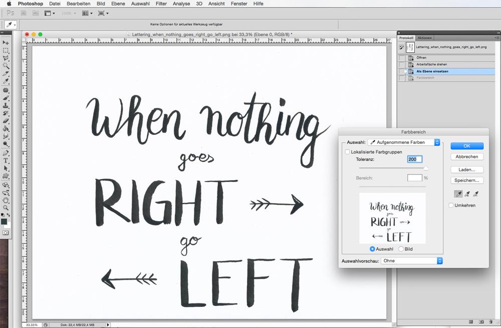 Lettering digitatilieren und freistellen - Schritt für Schritt Anleitung