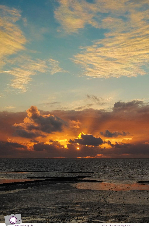 Norddeich: 16 Freizeittipps für Familien an der Nordsee - Sonnenuntergang an der Nordsee