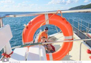 Ibiza mit Kindern - Reisebericht mit Tipps für die Region Santa Eularia: mit der Fähre zum Strand Cala Llonga