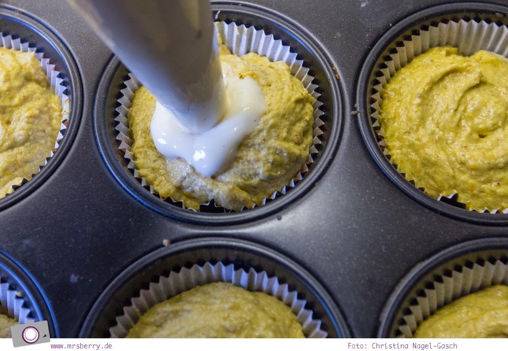 Rezept für Pumpkin Spice Muffins mit Cream Cheese Füllung