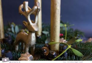 DIY: Adventskranz selber machen - Kerzenhalter aus Silikon Backform und Gips gießen