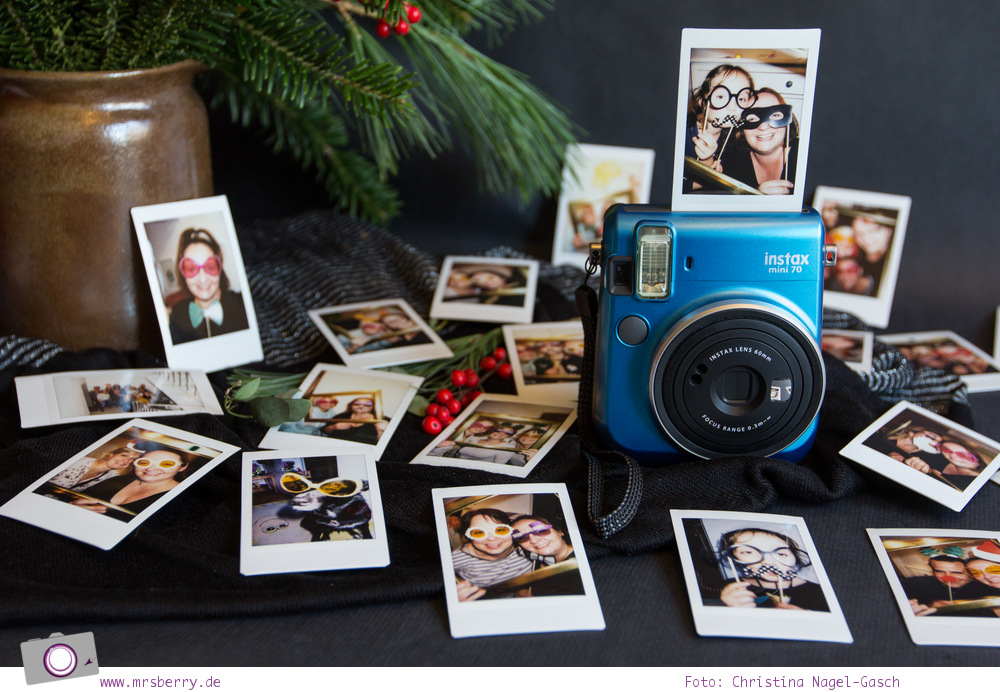 Fuji Instax mini 70 Sofortbildkamera im Photobooth