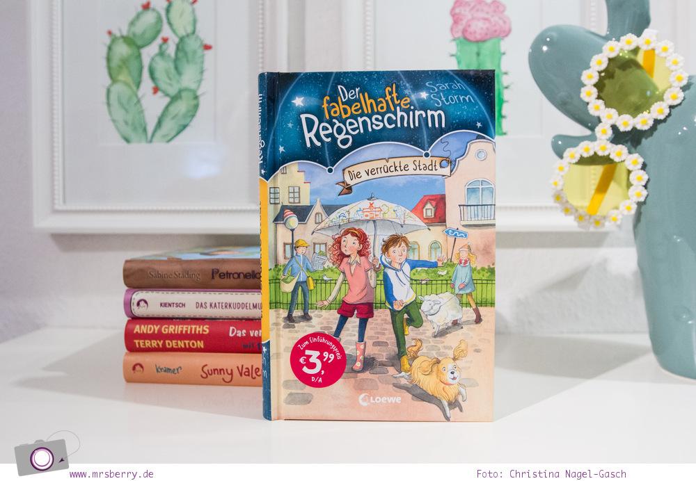 Lesetipp: 5 Kinderbücher -  Geschenktipps zu Weihnachten - Lesespaß ab 8 Jahre - Der fabelhafte Regenschirm – Die verrückte Stadt