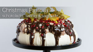 Christmas Pavlova Rezept: schokoladig, sahnig & saulecker
