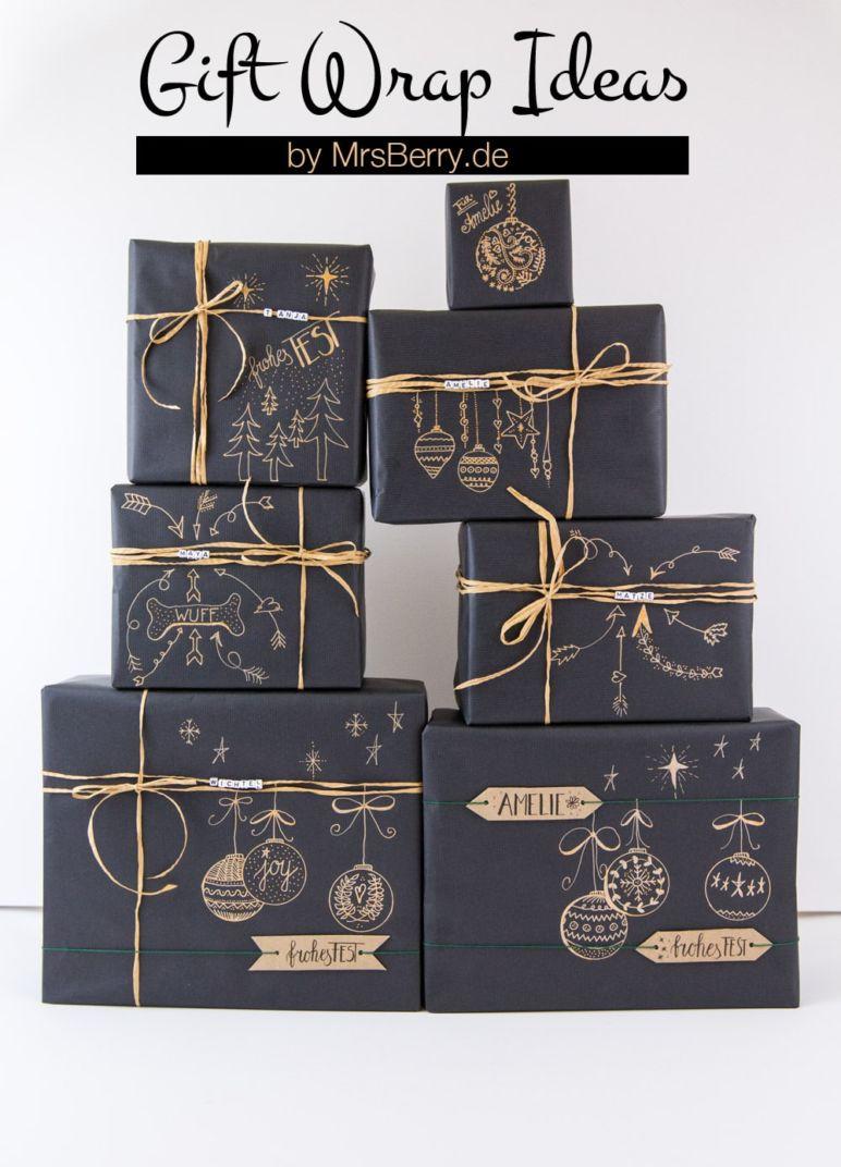 Geschenke schön verpacken mit Kraftpapier | MrsBerry Familien ...