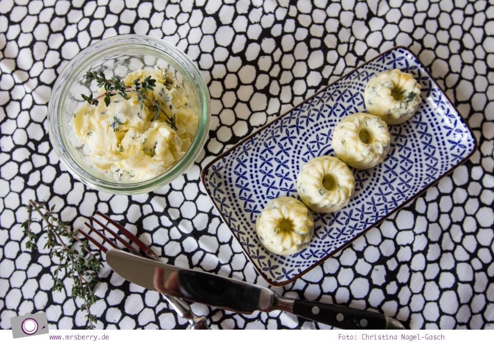 Partyrezepte: Brotaufstrich, Dips & Kräuterbutter: Rezept für Zitronen-Thymian-Butter