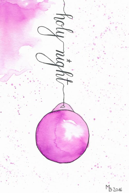 Weihnachtskarten selber machen – Lettering & Aquarell Step by Step + Download Freebie