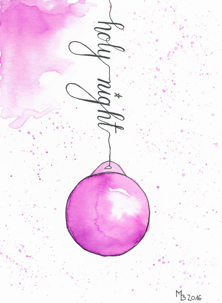 Weihnachtskarten selber machen – Lettering & Aquarell | MrsBerry