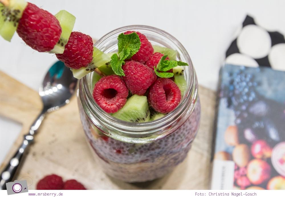 Buch Tipp: 5 gesunde Kochbücher - Die Grüne Küche, Smoothies & Co. - Chia-Himbeer-Pudding Rezept