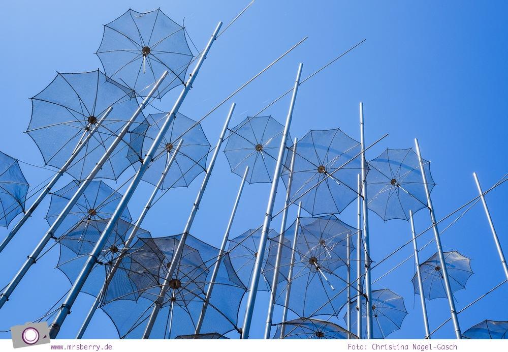 Griechenland: Sehenswürdigkeiten in Thessaloniki - ein Stadtrundgang in 4 Stunden: Skulptur Regenschirme