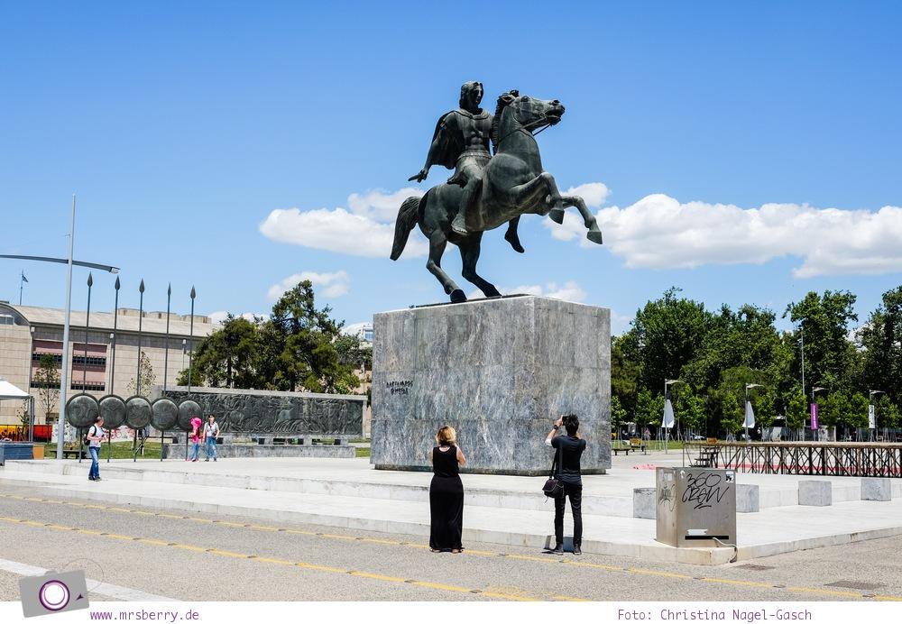 Griechenland: Sehenswürdigkeiten in Thessaloniki - ein Stadtrundgang in 4 Stunden: Reiterstatue Alexander der Grosse