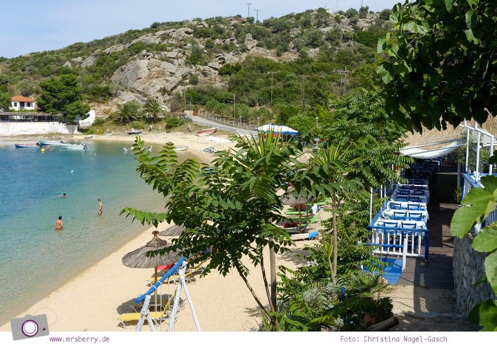MrsBerry.de | Urlaub in Griechenland, Chalkidiki: Rundfahrt auf Sithonia - Taverne 5 Steps In The Sand