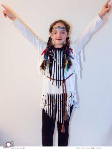 MrsBerry.de DIY | Indianer Kostüm basteln - ein easy peasy DIY und Last Minute Verkleidung für Karneval / Fasching