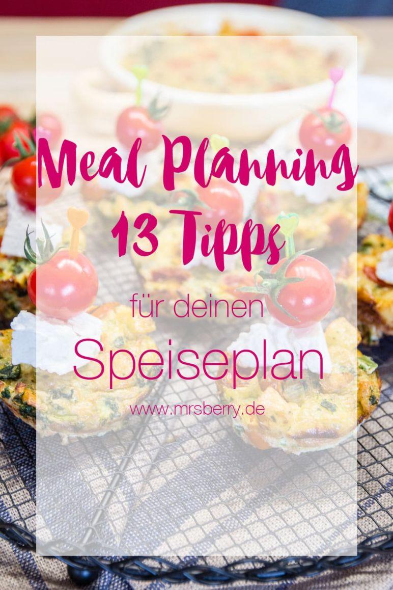 MrsBerry.de Meal Planning | 13 Tipps für deinen Speiseplan / Essensplan