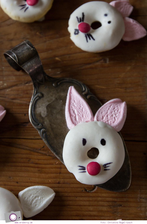 Leckeres DIY zu Ostern | Mini Donuts backen: Rezept für zuckersüße Hasen-Donuts zum selbermachen | MrsBerry Familien-Reiseblog