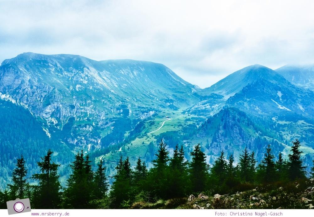 Familienurlaub in Kärnten - Feriendorf Kirchleitn mit Ranger Tagen für Kinder: Ausblick auf die Nockberge [Österreich, Wandern im Nockberge Nationalpark]