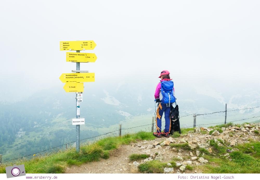 Familienurlaub in Kärnten - Feriendorf Kirchleitn mit Ranger Tagen für Kinder: Ausblick auf die Nockberge im Nebel [Österreich, Wandern im Nockberge Nationalpark]