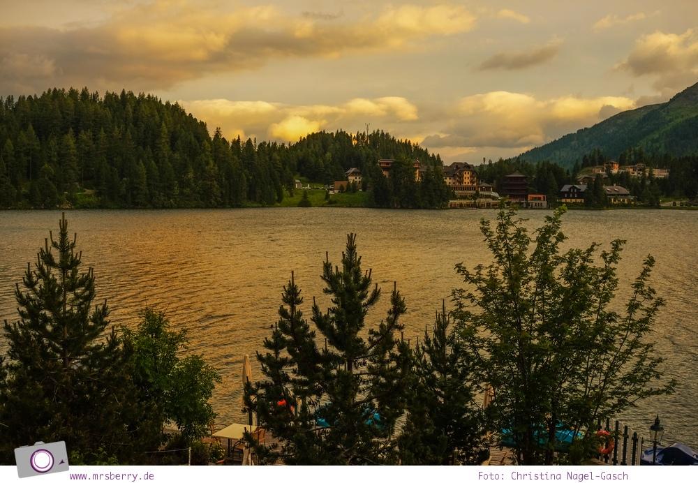 Steiermark mit Kind - Urlaub im Seehotel Jägerwirt auf der Turracher Höhe am Turracher See: Turracher See im Abendlicht