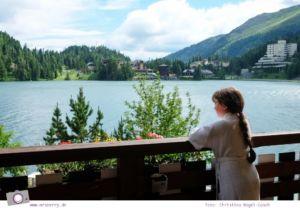 Steiermark mit Kind - Urlaub im Seehotel Jägerwirt auf der Turracher Höhe am Turracher See: Ausblick vom Balkon