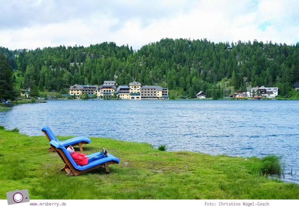 Steiermark mit Kind - Urlaub im Seehotel Jägerwirt auf der Turracher Höhe am Turracher See: Spaziergang Turracher See