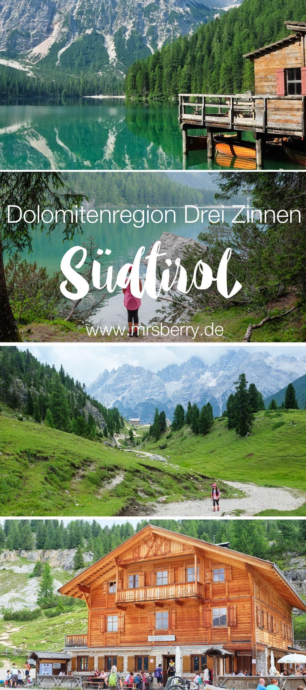 Familienurlaub in Südtirol in der Dolomitenregion Drei Zinnen