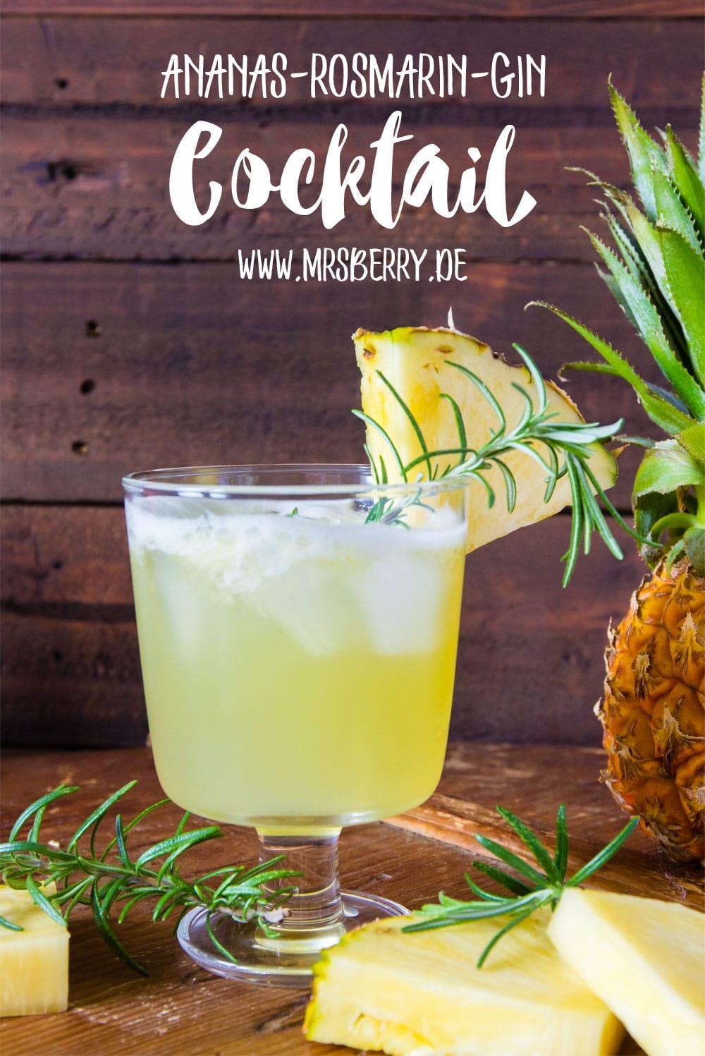 Muttertagsgeschenke: Gin-Cocktail-Party mit Rezept für Ananas-Rosmarin-Gin Cocktail