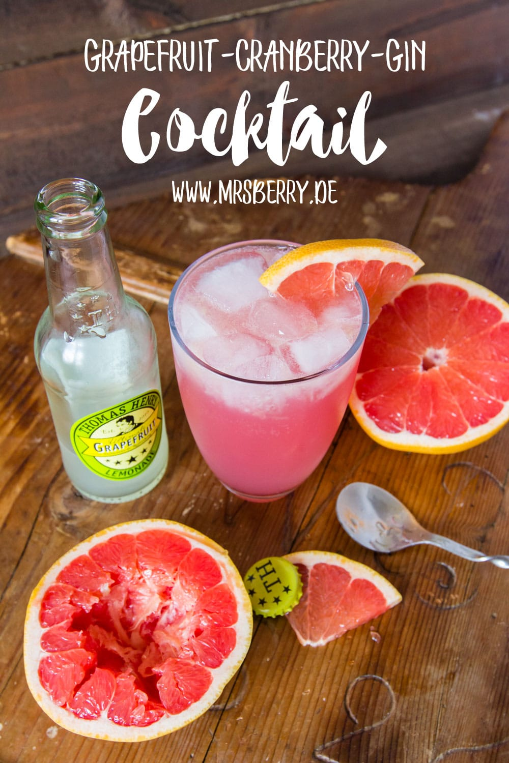 Muttertagsgeschenke: Gin-Cocktail-Party mit Rezept für Grapefruit-Cranberry-Gin Cocktail