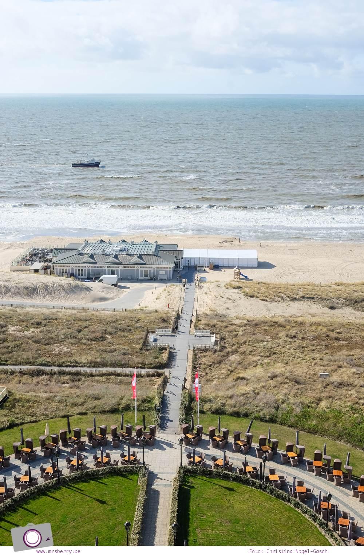 Tipps für ein Wochenende im Frühling in Holland mit Kind und Hund - vom Meer in Noordwijk und Tulpen im Keukenhof: Unser Zimmer im Grand Hotel Huis ter Duin mit Panoramablick auf die Nordsee