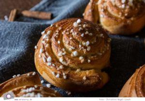 Rezept für Zimtschnecken, Cinnamon Rolls, Schwedische Kanelbullar