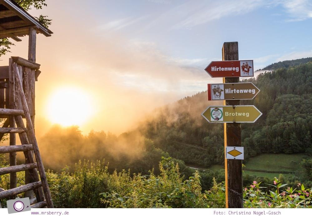 ZweiTälerLand: Familienurlaub im Schwarzwald - der Schneiderhof ist der größte Bauernhof im Elztal und liegt an den Wanderwegen - Hirtenweg und Brotweg