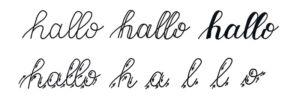 Lettering Basic Guide mit Tipps & Tricks für Anfänger und Fortgeschrittene | Faux Calligraphy Beispiel für Auf- und Abstriche