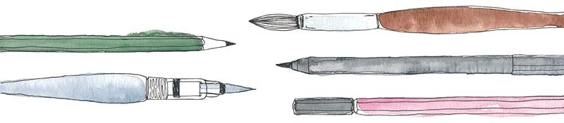 Lettering Basic Guide mit Tipps & Tricks für Anfänger und Fortgeschrittene | Handlettering Material Doodle